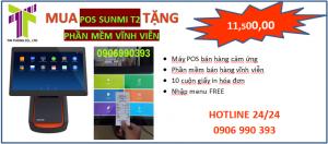POS BÁN HÀNG CẢM ỨNG SUNMI T2  🚩Màn hình 15.5 inch tích hợp in bill khổ giấy K80 có sẵn luôn trên máy, cắt giấy tự động  🚩Đồng bộ với tất cả các thiết bị trong cửa hàng  🚩Tiết kiệm được diện tích quầy hàng  🚩Màn hình cảm ứng siêu nhạy,giúp thao tác bán hàng nhanh và chính xác  🚩Ngoài wifi máy còn có thể kết hợp 3G-4G và lên được web, youtube...giải lao giải trí như chiếc máy tính thông thường