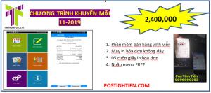 Trọn bộ MÁY IN BILL BLUETOOTH giá khuyến mãi GIÁ SIÊU ƯU ĐÃI  Chỉ với: 2 tr 400 bao gồm:   Phần mềm bán hàng vĩnh viễn  Miễn phí nhập menu  Máy in bill, in hóa đơn không cần dây nối
