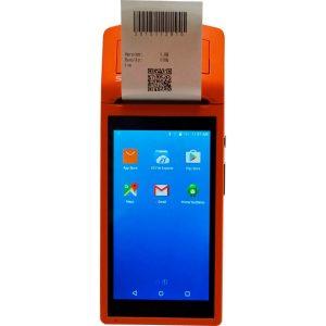 Thông số: Hệ điều hành: Android 6.0 CPU: MTK MT6580 1.3GHZ 4 nhân Ram : 1G Bộ nhớ trong: 8GB Màn hình hiển thị: 5.5'' 1280x720 Công nghệ cảm ứng: Cảm ứng đa điểm Camera: 5 MP Kết nối: Wifi 802.11, 3G,USB type C Hỗ trợ khe cắm sin Tích hợp máy in khổ K58 Pin: 5200mAh