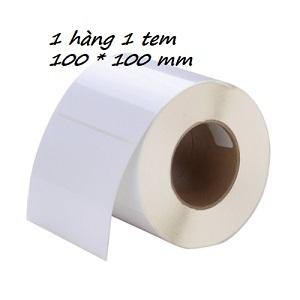 MUA SỐ LƯỢNG LỚN LIÊN HỆ GIÁ TỐT 090699039.  Giấy decal 1 tem 100x100mm (tem vuông), khổ 104mm, dài 50m