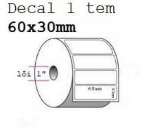 MUA SỐ LƯỢNG LỚN LIÊN HỆ GIÁ TỐT 090699039  Giấy decal chuyển nhiệt 1 tem 60x30mm, dài 50m