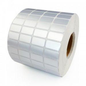 MUA SỐ LƯỢNG LỚN LIÊN HỆ GIÁ TỐT 090699039.  Decal xi bạc 04 tem 25x15mm, khổ 110mm, dài 50m
