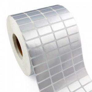 MUA SỐ LƯỢNG LỚN LIÊN HỆ GIÁ TỐT 090699039.  Decal xi bạc 03 tem 35x15mm, khổ 110mm, dài 50m